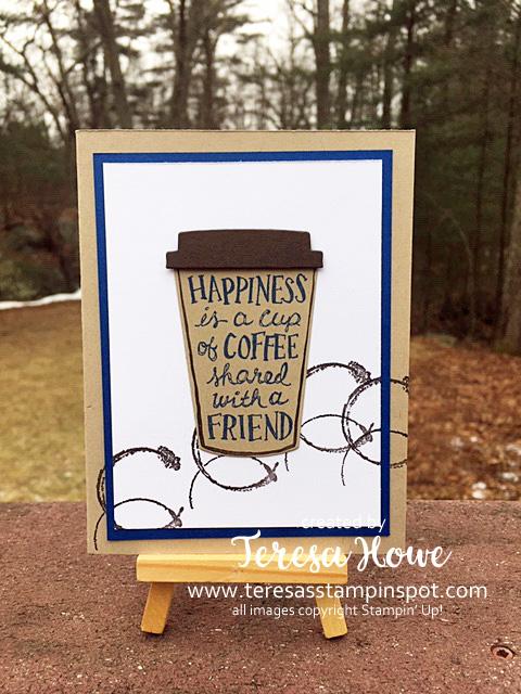 Coffee, Friendship, Coffee Cafe, Stampin' Up!, SU!