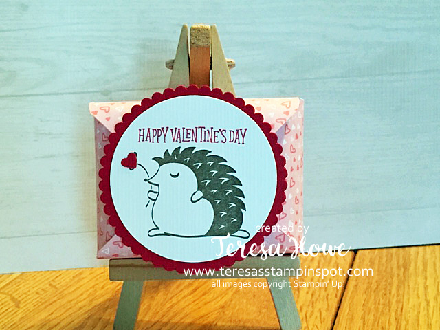 Valentines, Treat Holder, Envelope Punch Board, Hedgehugs, Stampin' Up!, SU! Stampithop
