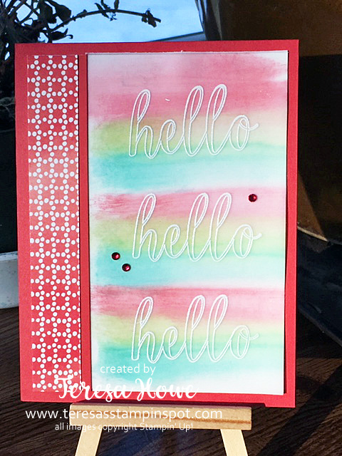 Calligraphy Essentials, Hello, Stampin' Up!, SU!, Heat Emboss