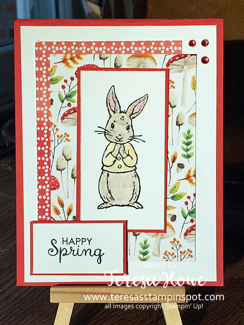 Spring, Bunny, Fabled Friends, Painted Seasons DSP, Stampin' Up!, SU!, #2019SaleABration, #2019Occasions