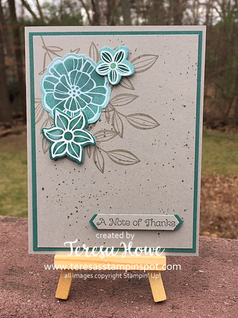 Falling Flowers, Thank You, Thankful Thoughts, In Color 2017-2019, Stampin' Up!