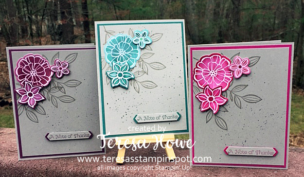 Falling Flowers, In Colors 2017-2019, Stampin' Up!, Thank You
