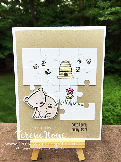 Animals, A Little Wild, Puzzle Pieces, Stampin' Up!, SU!