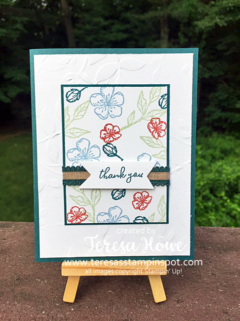 Flowers, Thank You, Free As A Bird, 2019 In Colors, Stampin' Up!, SU!