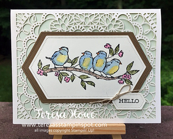 Birds, Hello, Friendship, Laser Cut Card, Free As A Bird, Stampin' Up!, SU!