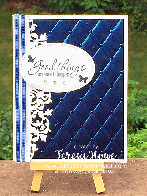 Noble Peacock Foil, Tasteful Textures, Delicate Lace Edgelits, Stampin' Up!, SU!, #2019AnnualCatalog