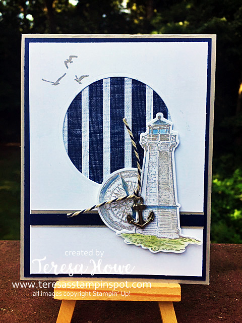 Sail Away, Lighthouse, Stampin' Up!, SU!, Masculine, #2019AnnualCatalog