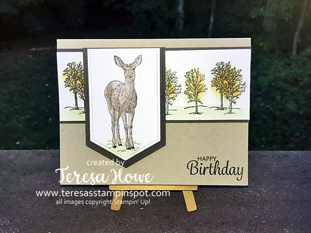 Birthday, Masculine, Deer, Natures Beauty, Stampin' Up!, SU!, #Holiday2019