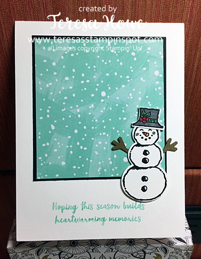 Snowman, Christmas, Let It Snow, #Holiday2019, Stampin' Up!, SU!