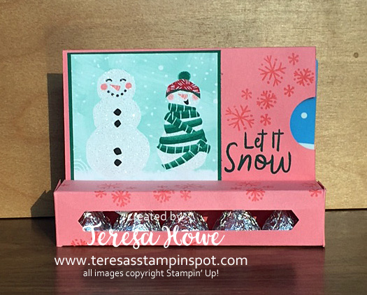 Gift Card Holder, Kisses, Snowmen, Let it Snow, Stampin' Up!, SU!, #Holiday2019