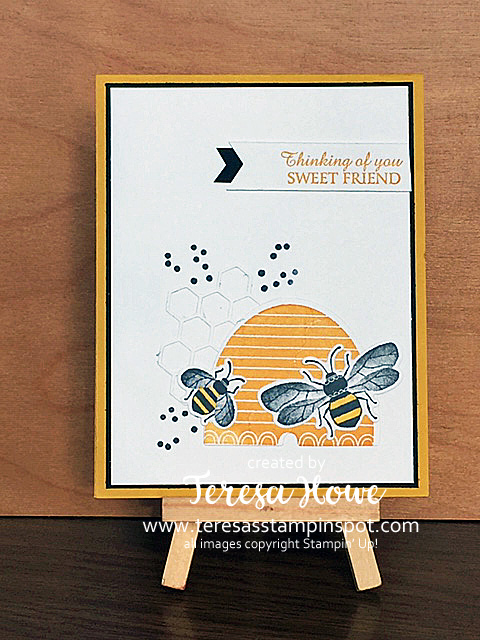 Bees, Honey Bees, Thinking of You, Stampin' Up!, SU!, #2020Occasions