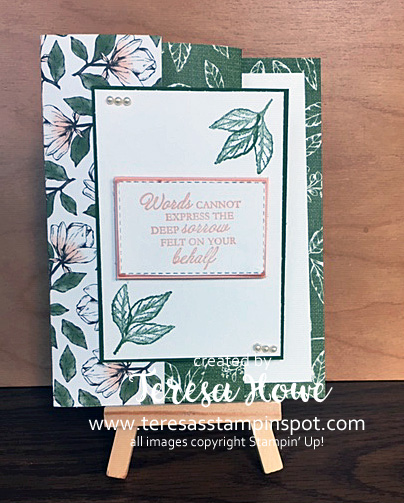 Fancy Fold, Magnolia Lane, DSP, #2020Occasions, Stampin' Up!, SU!, Forever Blossoms, Here's a Card