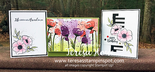 Painted Poppies, Flowers, #2020Occasions, Stampin' Up!, SU!