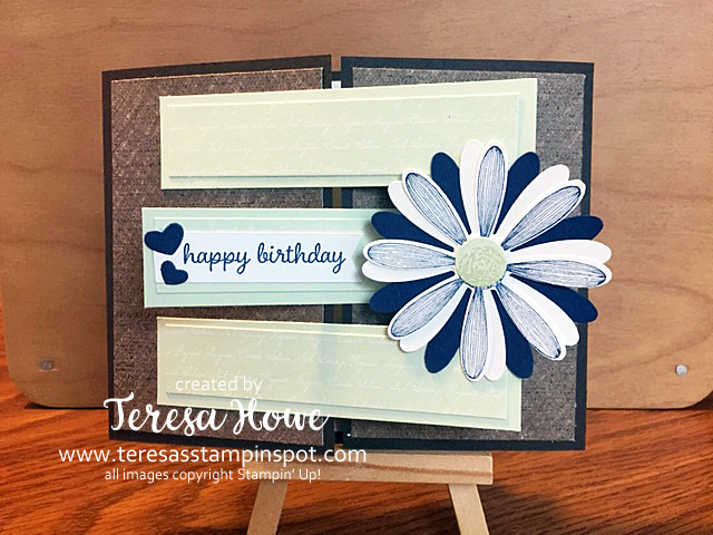 Birthday, Daisy Lane, Fun Fold, #2019AnnualCatalog, Stampin' Up!, SU!