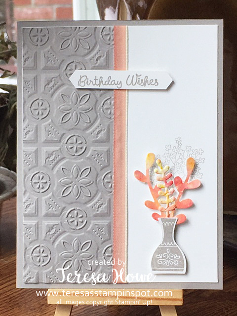 Watercoloring, Varied Vases, Stampin' Up!, SU!, Birthday, Pigment Sprinkles, #2019AnnualCatalog