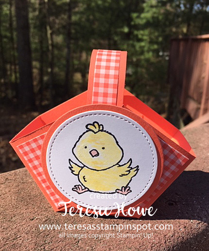 Treat Holder, Easter, Basket, Welcome Easter, Stampin' Up!, SU!, #2020Occasions