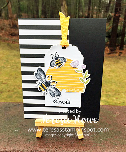 Thanks, Honey Bee, Stampin' Up!, SU!, #2020Occasions, #InternationalBlogHop