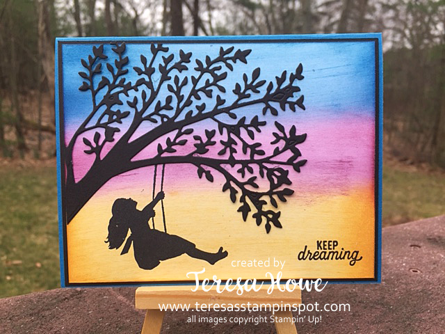 Dream, Silhouette Scenes, Sponging, Stampin' Up!, SU!, #2019AnnualCatalog