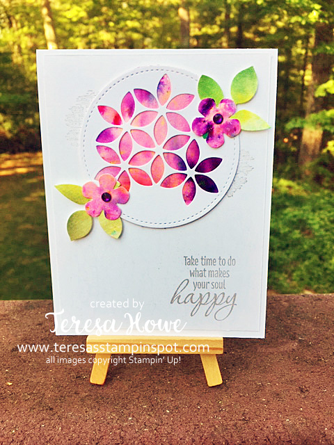 Happy, Flowers, Watercolor, Pigment Sprinkles, Stampin' Up!, SU!, #2019AnnualCatalog, Tasteful Textures, Tasteful Backgrounds