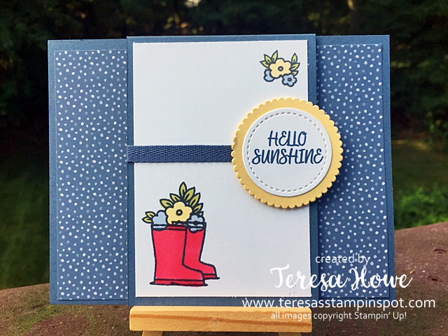 Fun Fold, Hello, Under My Umbrella, Stampin' Up!, SU!, #2020AnnualCatalog, #2020InColor, #MysteryStamping