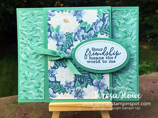 Just Jade, Friendship. Flowers, Stampin' Up!, SU!, #2020AnnualCatalog, #2020-22InColors