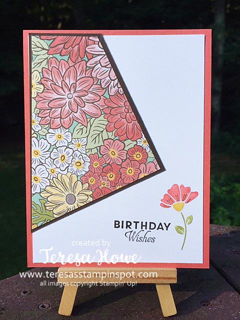 Angle Cut Cards, Ornate Garden, Birthday, Stampin' Up!, SU!, #2020AnnualCatalog