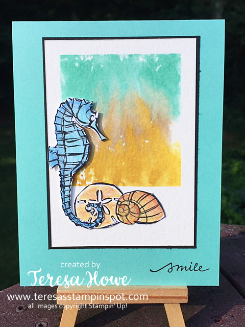 Smile, Friendship, Seaside Notions, Block Watercoloring, Stampin' Up!, SU!, #2020AnnualCatalog