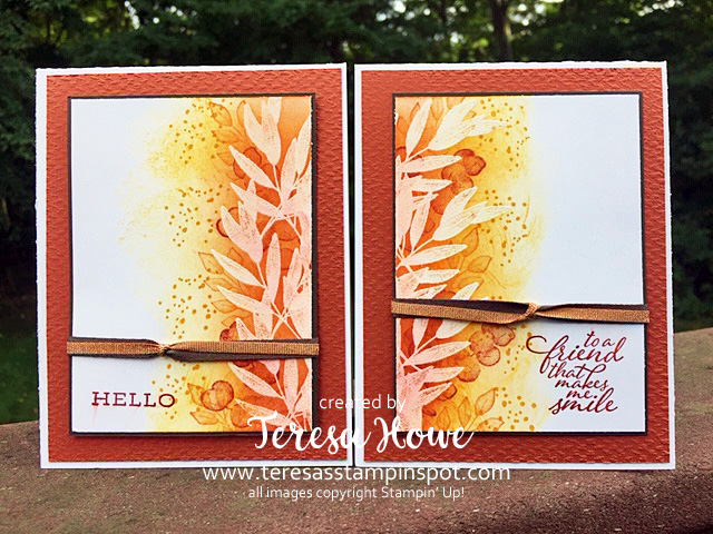 Fall, Hello, Friendship, Forever Fern, Stampin' Up!, SU!, 2for1, Split Card, #2020AnnualCatalog