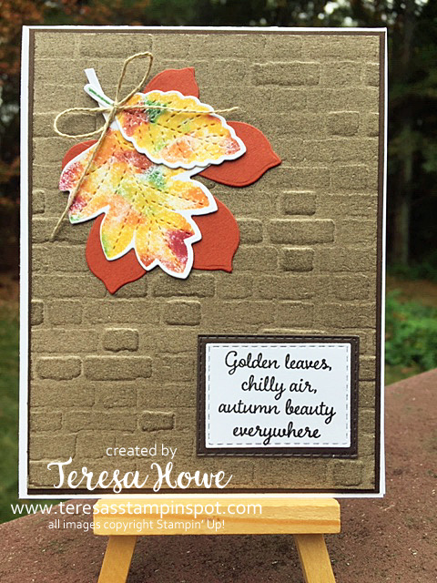 Brayers, Backgroungs, Baby Wipes, Fall, Stampin' Up!, SU!, Love of Leaves, Autumn Goodness