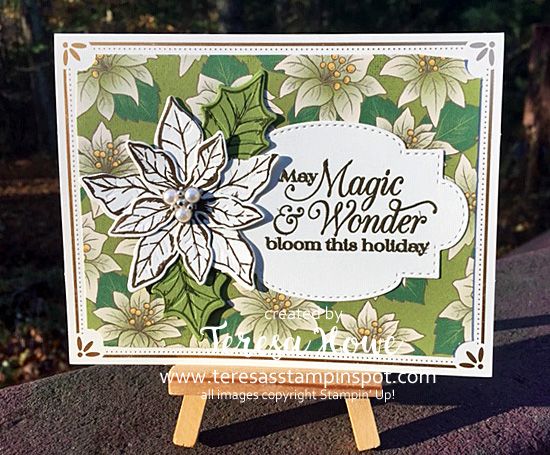 Poinsettia Petals, Poinsettia Place, Christmas, Stampin' Up!, SU!, #AugDecMini