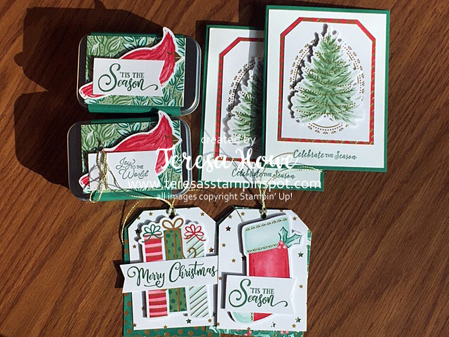 Christmas, Tags, Cards, Stampin' Up!, SU!, #AugDec2020Mini