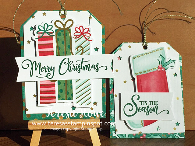 Christmas, Tags, Stampin' Up!, SU!, #AugDecMini2020