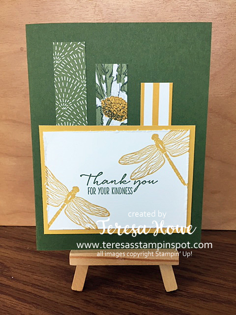 Thank You, Dragonfly Garden, Stampin' Up!, SU!, #JanJune2021Mini, #dspscraps