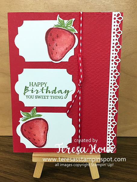 Birthday, Sweet Strawberry, Stampin' Up!, SU!, #JanJune2021Mini
