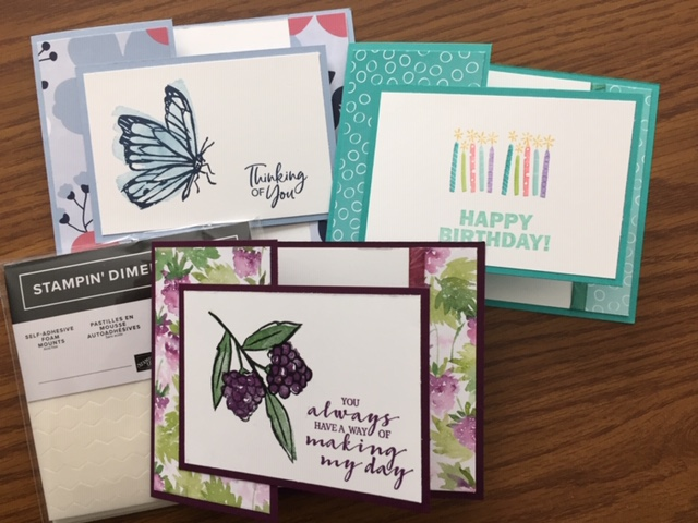 Fun Fold, #JanFeb2021SAB, Stampin' Up!, SU!, A Touch of Ink, Berry Blessings, Approaching Perfection
