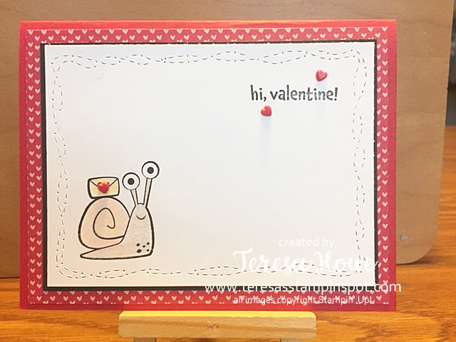 Valentine, Snail, Snailed It, Stampin' Up!, SU!, #JanJuneMini2021