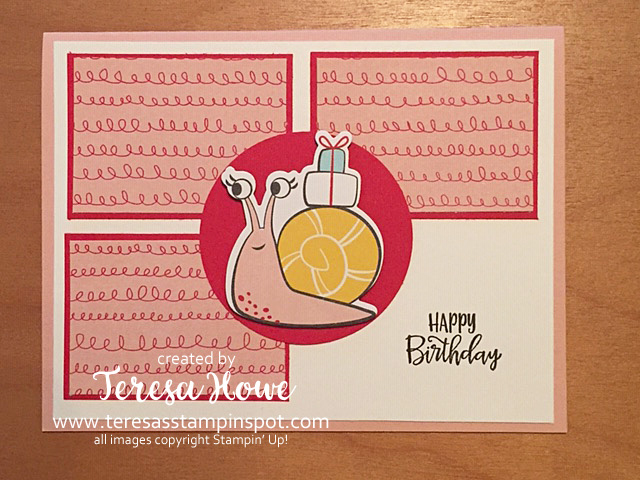Snailed It, Birthday, DSP Scraps, Stampin' Up!, SU!, #JanJuneMini2021