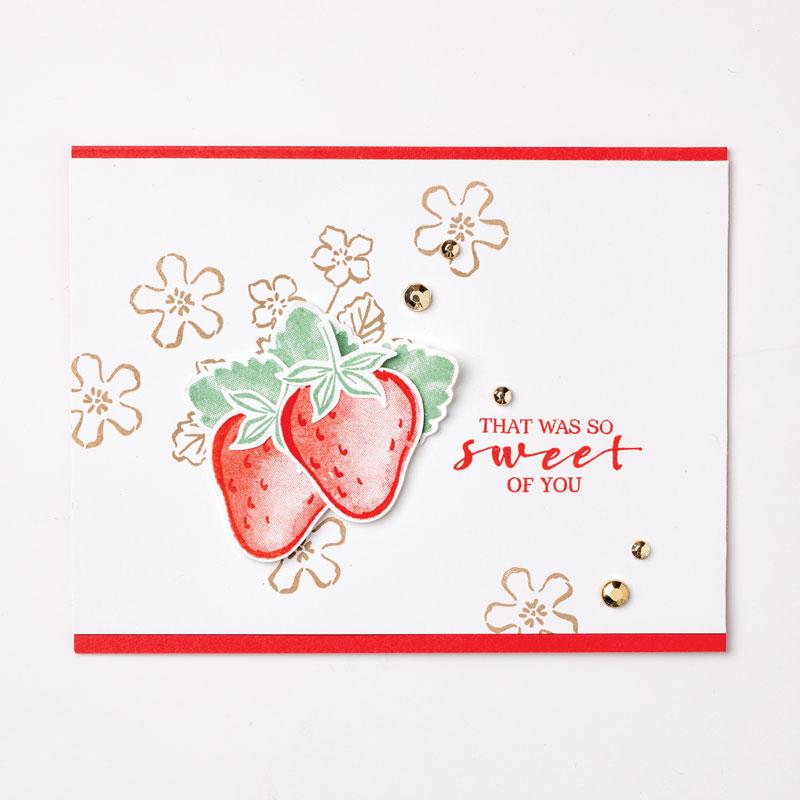 Sweet Strawberry, Thanks, Stampin' Up!, SU!, #2122AnnualCatalog