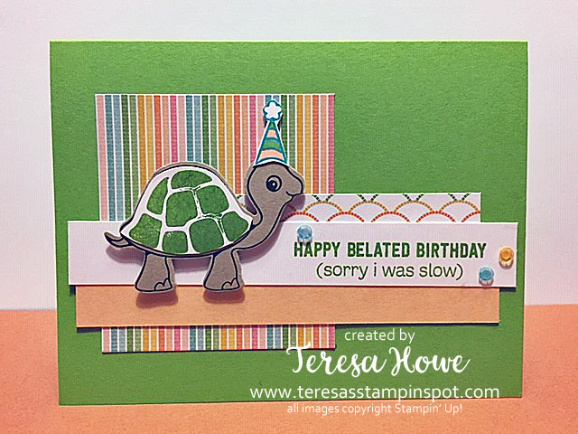 Birthday, Belated, Turtle Friends, Stampin' Up!, SU!, #2021AnnualCatalog