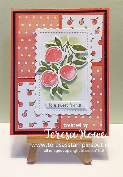 Friendship, Sweet As A Peach, Stampin' Up!, SU!, #2021AnnualCatalog, #usethosescraps