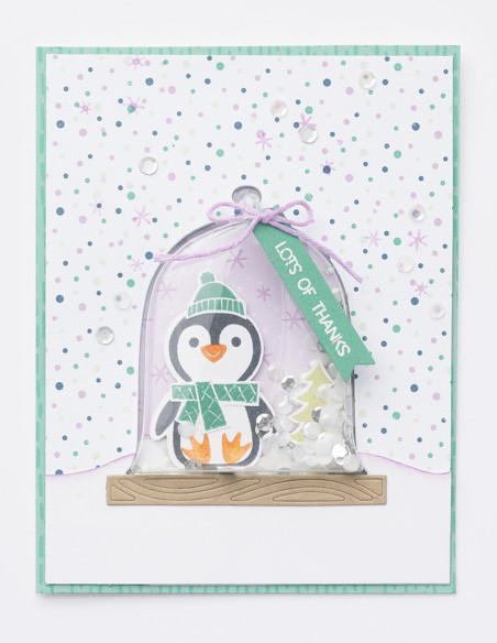 Penguin Place, Shaker Card, Thanks, Stampin' Up!, SU!, #JulyDecMini2021