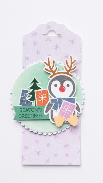 Penguin Place, Tags, Holidays, Stampin' Up!, SU!, #2021JulyDecMini