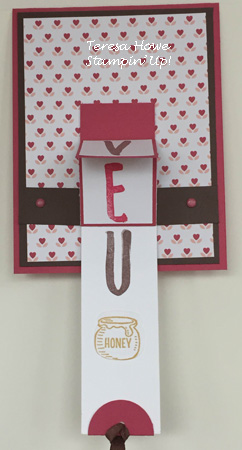 Stampin' Up! Layered Letters, Bear Hugs