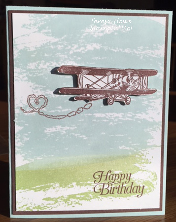 Stampin' Up! Sky is the Limit, Watercolor Wash