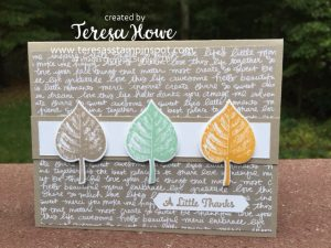 SU! Vintage Leaves, One Big Meaning