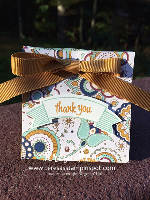 SU! Gift Bag Punch Board, Petals & Paisleys DSP, Thoughtful Banners