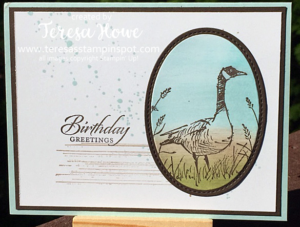 Stampin' Up! SU! Wetlands, Gorgeous Grunge
