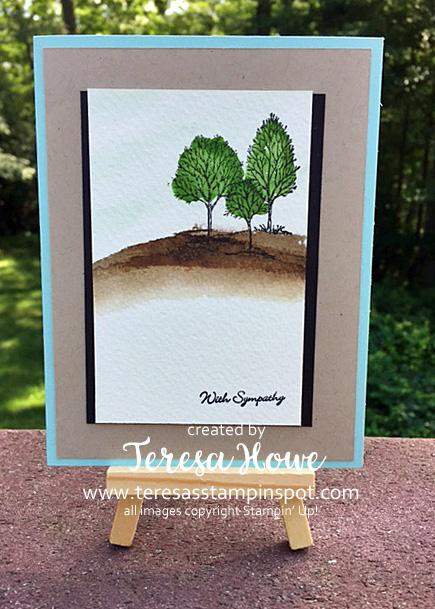 Lovely as a Tree, Sheltering Tree, Teeny Tiny Wishes, SU! Stampin' Up!, Sympathy