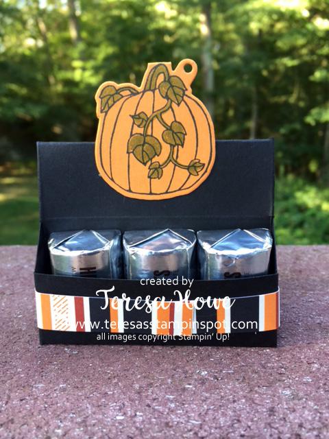 Seasonal Chums, Halloween, Treat Holder, Pumpkins, Stampin' Up!, SU!
