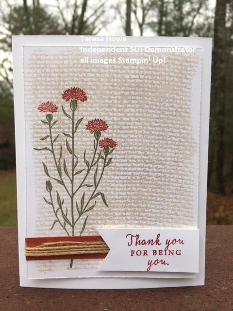 Flowers, Thank You, International Highlights, Wild About Flowers, Burlap BG, Stampin' Up!, SU!